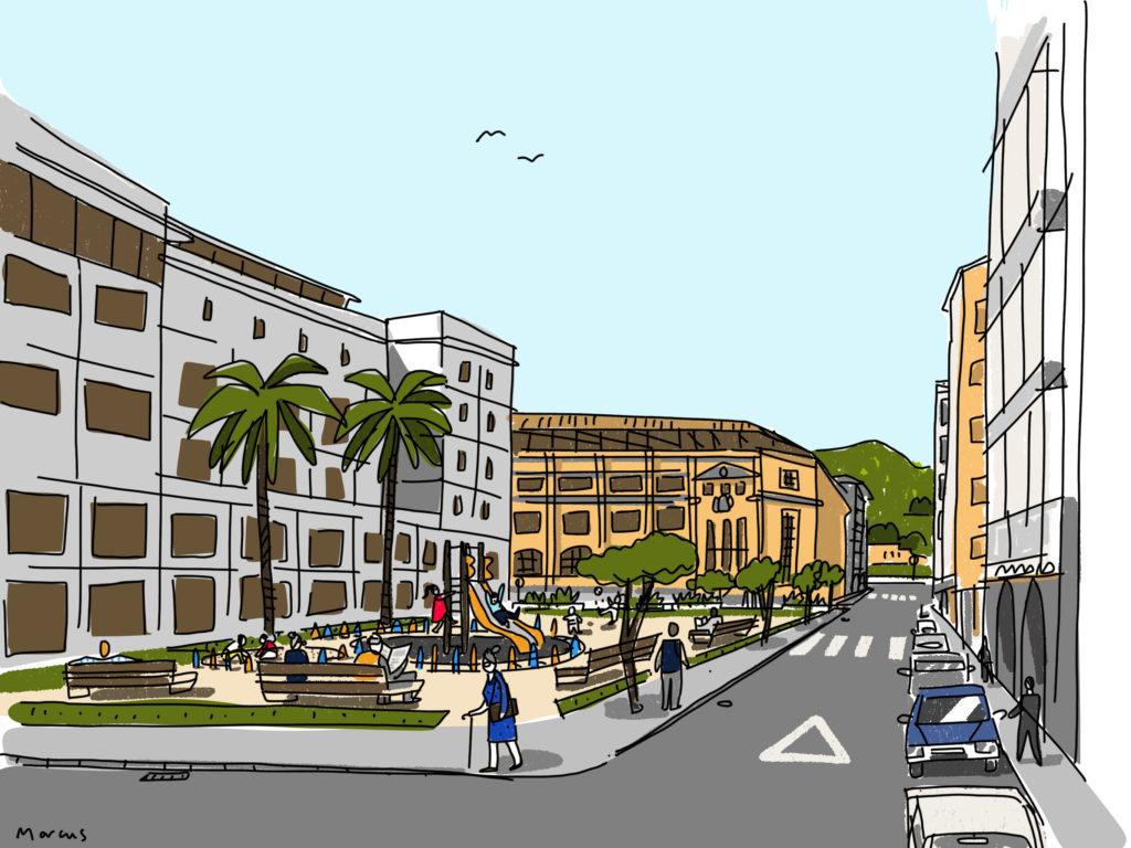 Nuestro espacio ideal: un lugar de encuentro para el barrio y el colegio.